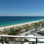 Strandblick vom Balkon aus