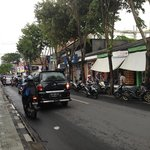 View of the streets during my walk in the area of Jalan Arjuna and Jalan Legian
