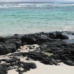 Il verde dell'acqua ed il nero delle rocce