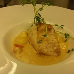 Escolar with Newberg Sauce (lobster base cream sauce with Sherry)