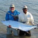 A nice tarpon caught with Turneffe Flats guides