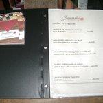 Carta restaurante en Porto Da Barra