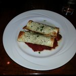 Over-baked cannelloni - stuffed with home-made sausage.