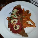 Veal Parmigiana - tender and rich with flavor.