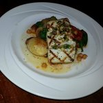 Halibut special - broiled, tender and flaky without being dry