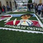 Fistas Patronales de Burela, alfombra floral.