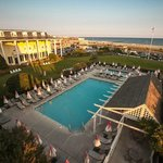 Congress Hall's overlooks the Atlantic Ocean and many guest rooms have views of the beach.