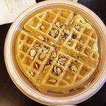Breakfast-Almond waffle