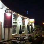 The Pheasant Inn at night