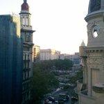 Vista hacia Plaza de Mayo