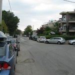 street toeard downtown