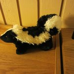 This stuffed skunk is in every room