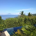 Bali island looks nearby