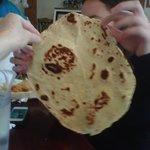 Huge flour tortillas