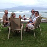 We moved the lanai table 10' toward the ocean for brunch!