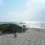 Pescadores frente a la playa