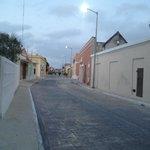 Calle en centro de Celestún