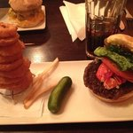 The Lobster Burger w/ Onion Rings