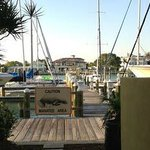 walk out to the boardwalk/docks
