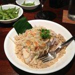 Mahi with red Thai curry.  Yum