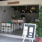 opened-air,clean & comfortable for sitting and having Thai food, coffee, tea and drinks