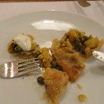 Vegetable samosa lightly spiced....