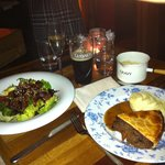 Mains - Fillet Salad and Steak, Brisket and Ale Pie