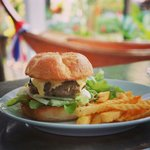 Cheese Burger for lunch