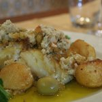 Roasted Cod fish with corn bread