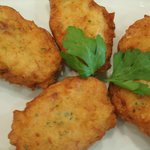 """Pataniscas de Bacalhau"" (Fried dumplings made from cod)"