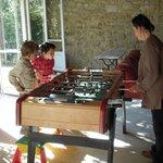 La salle de jeux en famille