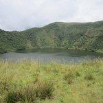 lake on the top of Bisoke
