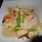 coconut rice with shrimp