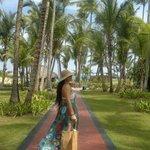 caminando a la playa verde por todos lados