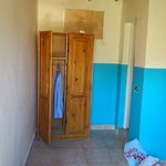 The wardrobe for storage; the ensuite is through the door on the right