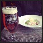 mmmm muskoka beer at elements restaurant