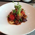 tenderloin steak at elements restaurant all made with only local ingrdients