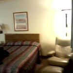 Clean room--good attention to housekeeping--the chair and footrest combo was very comfortable!