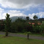 View of Arenal volcano from the cafe/pool area