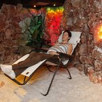 Relaxing in the Therapeutic Salt cave