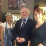 visit from president Higgins