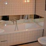 The bathroom in room no. 105