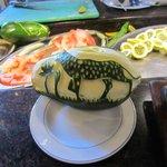 Papaya carving!
