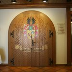 Beautiful doors in the entryway