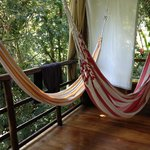 Hammocks in the cabin