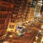 The view from our window. SW Broadway at night
