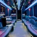 Inside one of Nite Tours buses