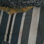 Our deluxe room mattrass. Is it torn or has something eaten it? Not sure