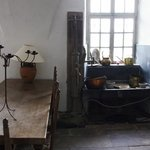 Historical kitchen area in the basement