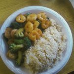 Hibachi shrimp and broccoli w/o onions